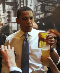 Роль пива в успехе президентов США