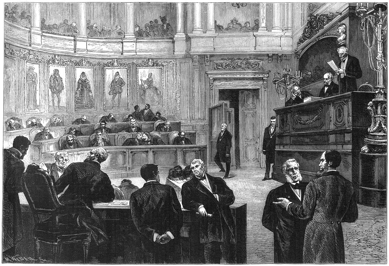 Бельгийский парламент в 1880-х годах