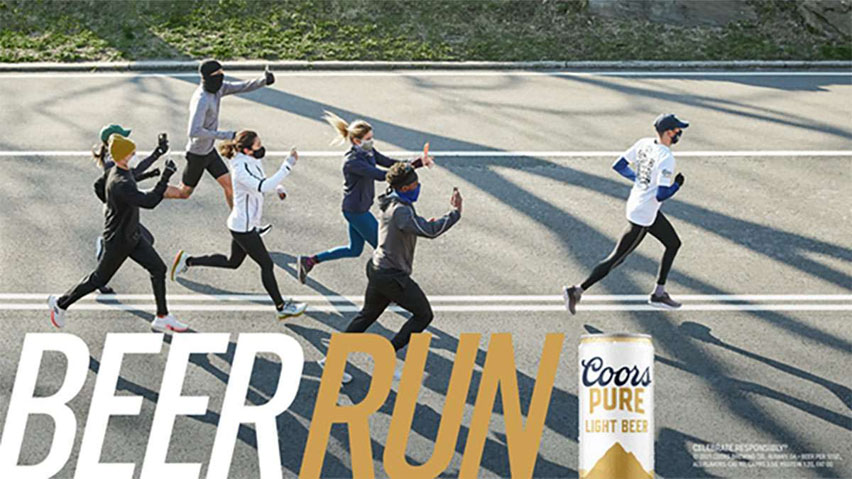 Coors Pure beer run