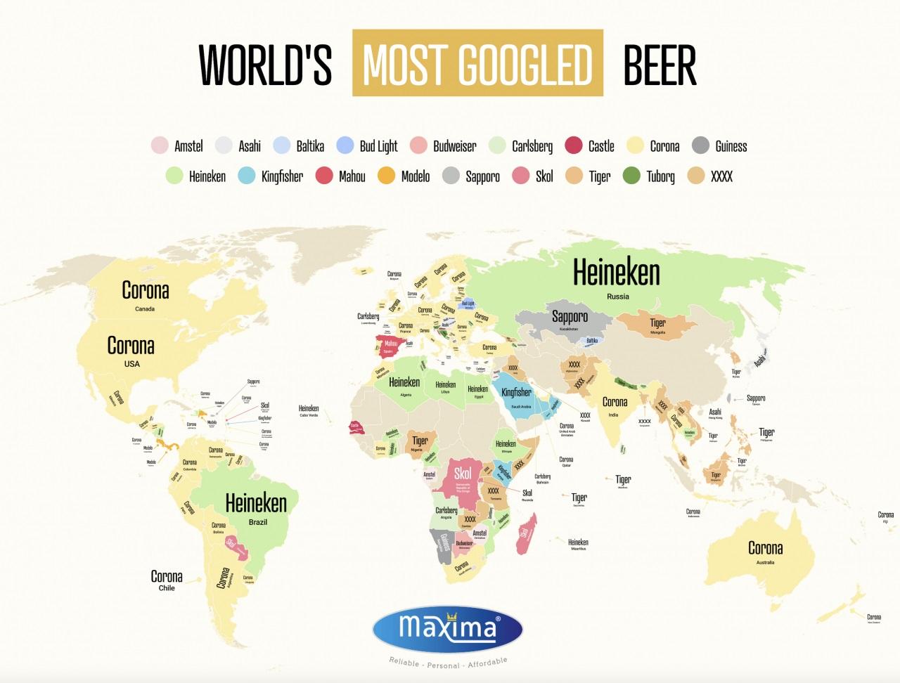 карта пива